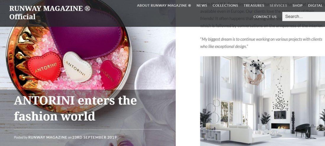Contemporary Interior Designer BRANA designs RUNWAY magazine