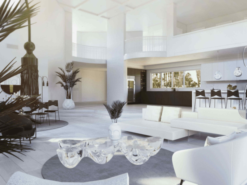 contemporary black and white interiors