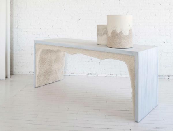 Contemporary design sea salt table