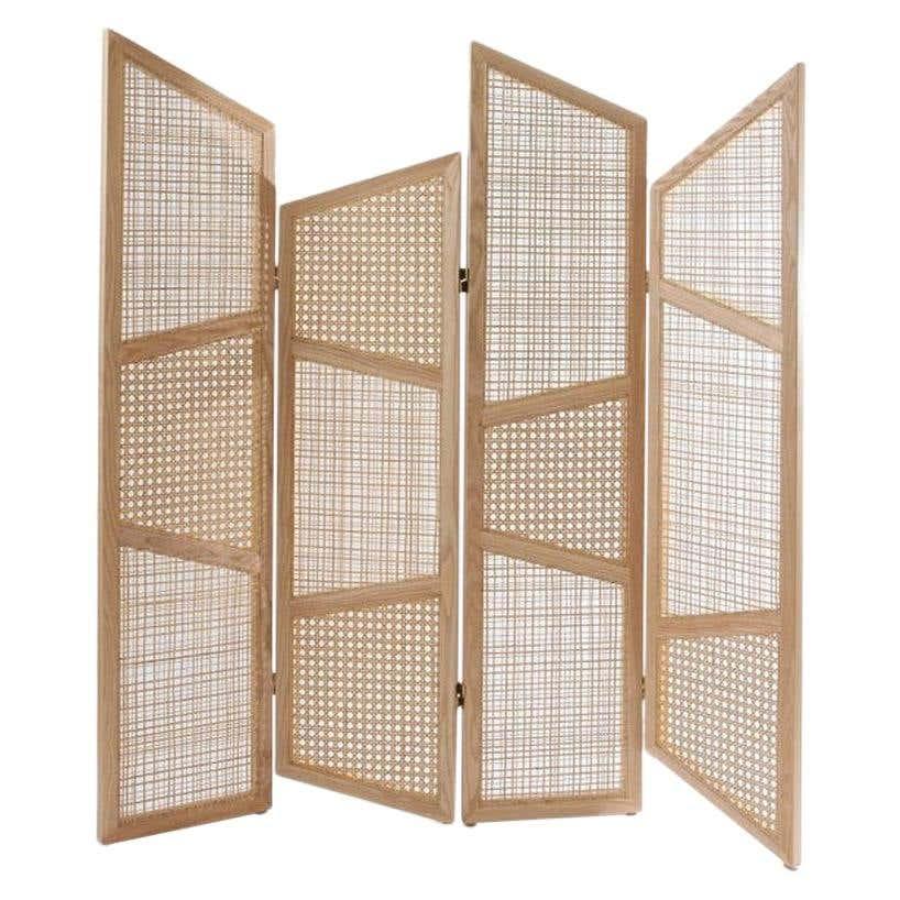modern cane room divider