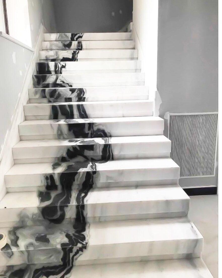 contemporary marble stairs