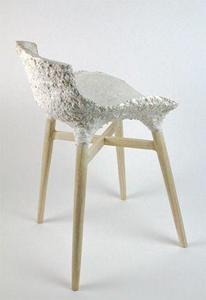 Contemporary design mycelium chair