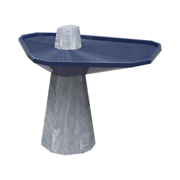Contemporary design side table marble