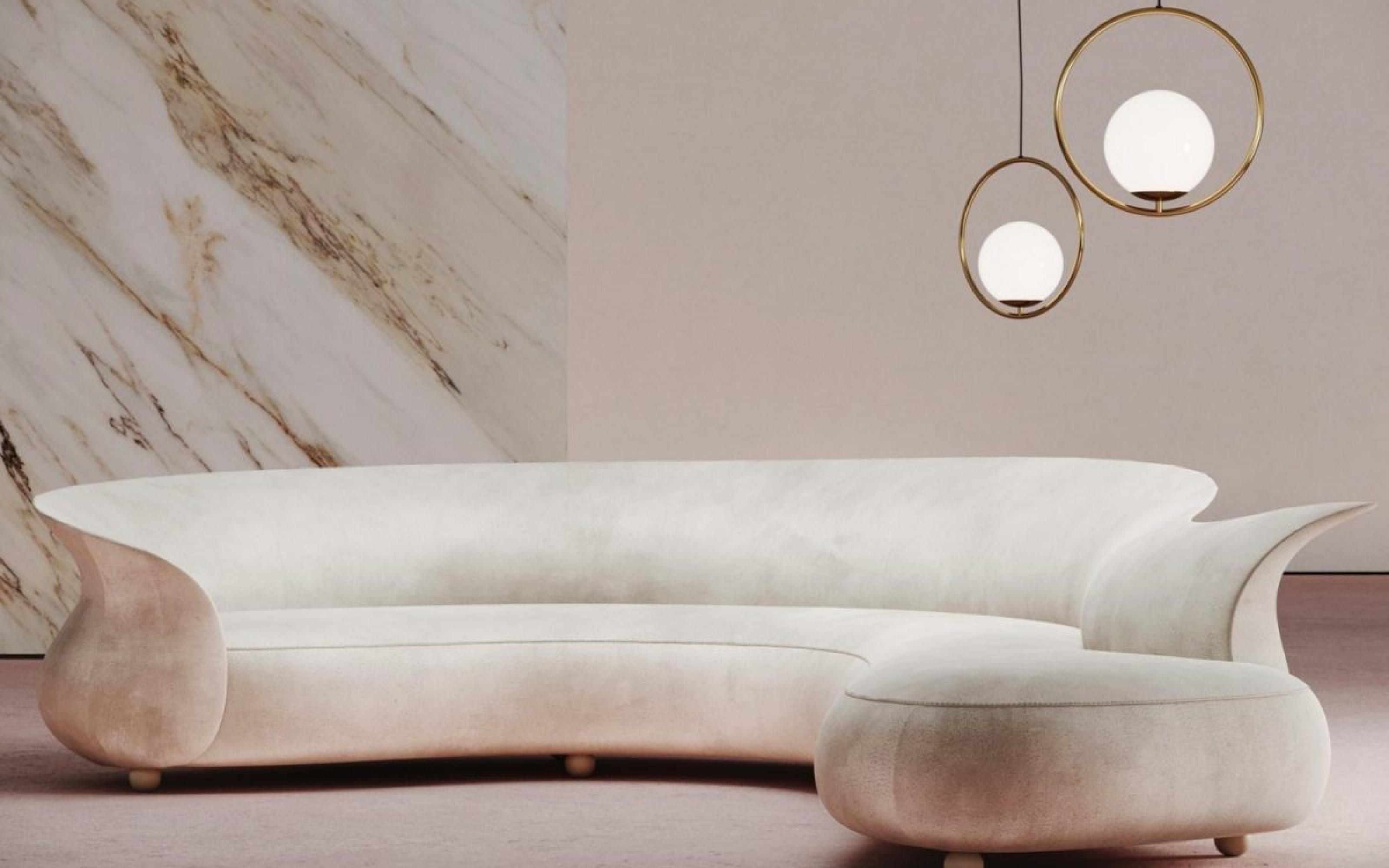 Luxury Curvy Sofa
