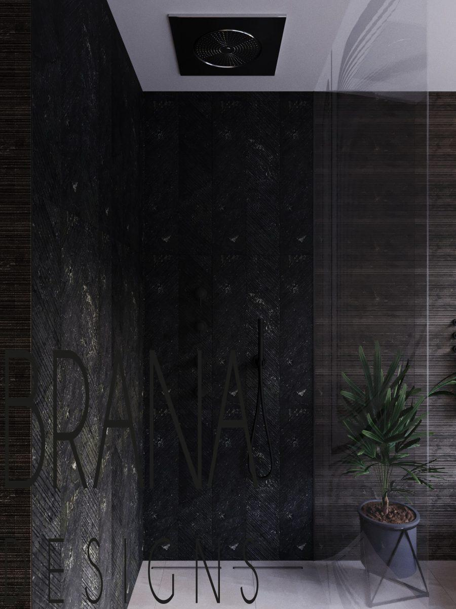 brown contemporary bathroom